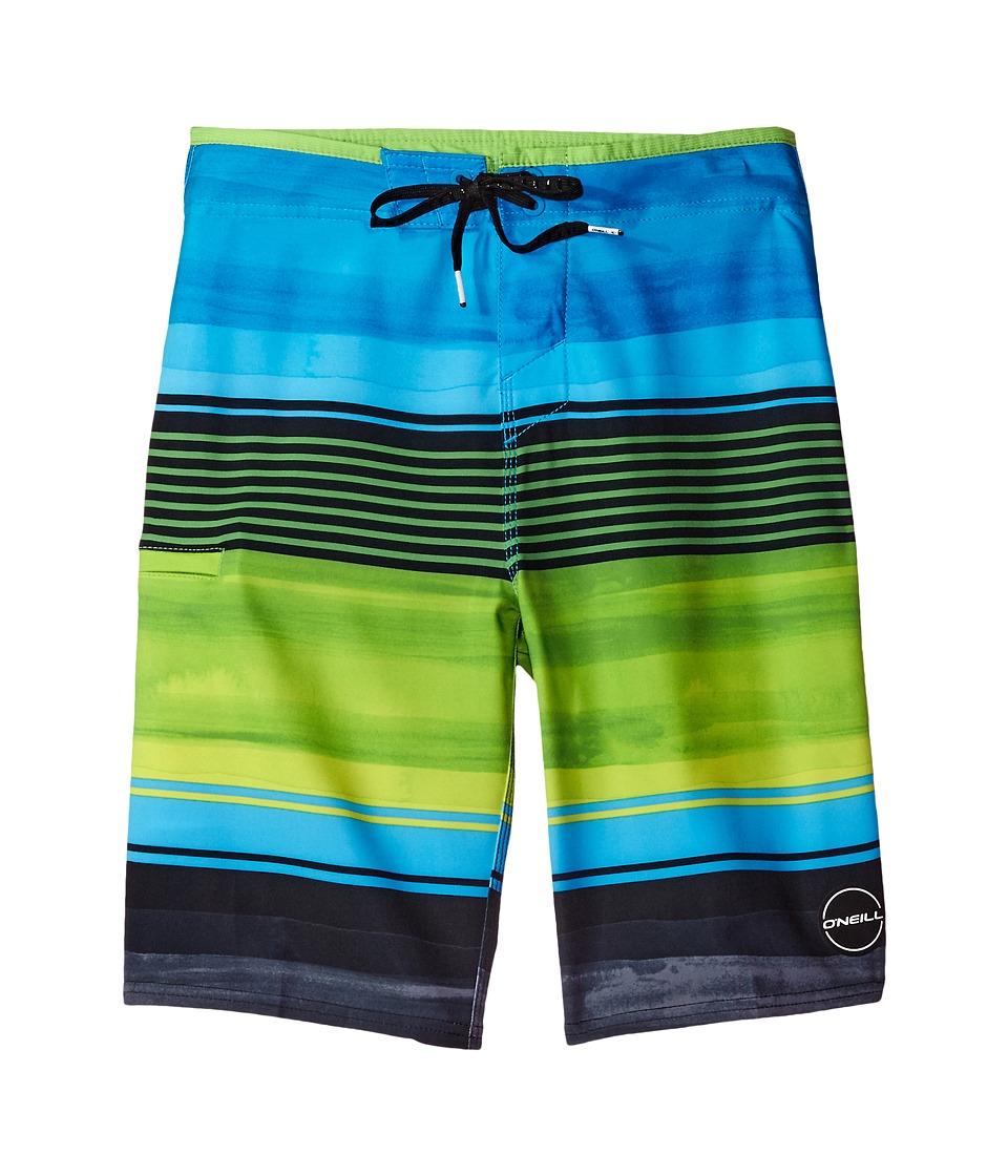 O'Neill Kids - Hyperfreak Heist Boardshorts (Big Kids) (Lime 1) Boy's Swimwear