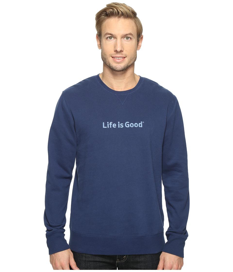 Life is Good - Life is Good(r) Go-To Crew Sweatshirt (Darkest Blue) Men's Sweatshirt