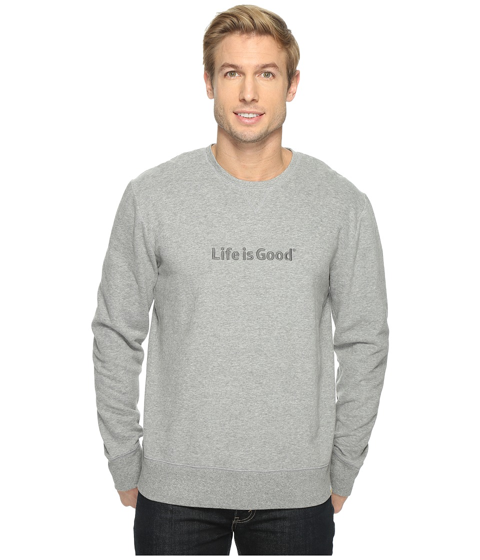 Life is good - Life is Good Go-To Crew Sweatshirt (Heather Gray) Men's Sweatshirt