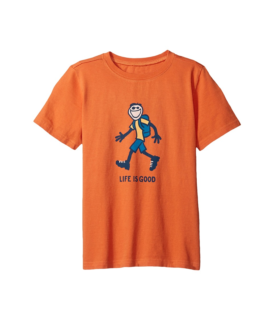 Life is Good Kids - Hike Tee (Little Kids/Big Kids) (Ember Orange) Boy's T Shirt