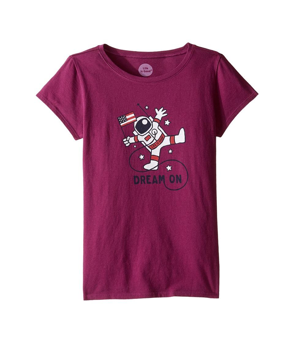 Life is Good Kids - Astronaut Tee (Little Kids/Big Kids) (Deep Plum) Girl's T Shirt