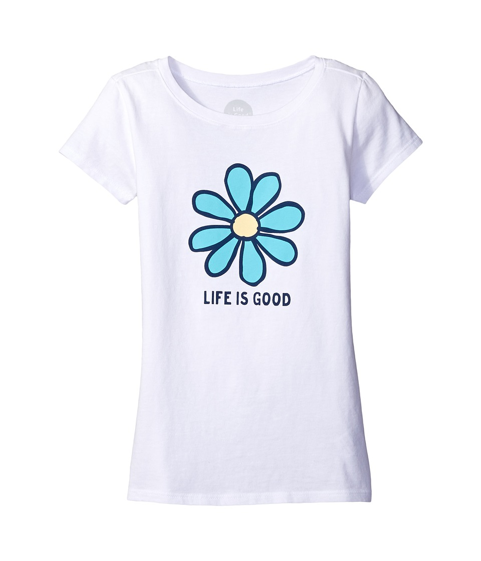 Life is Good Kids - Daisy Life is Good(r) Tee (Little Kids/Big Kids) (Cloud White) Girl's T Shirt