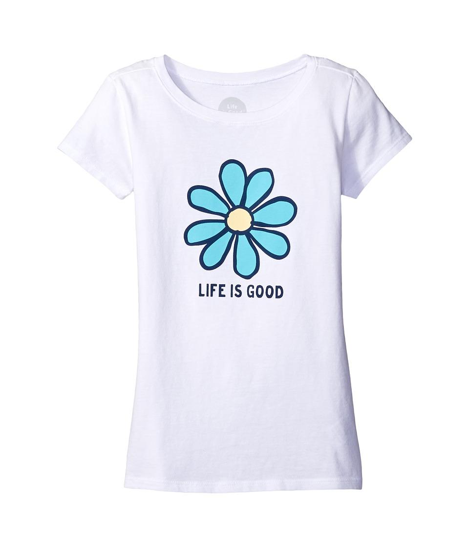 Life is Good Kids - Daisy Life is Good(r) Tee (Little Kids/Big Kids) (Cloud White) Girl's T Shirt