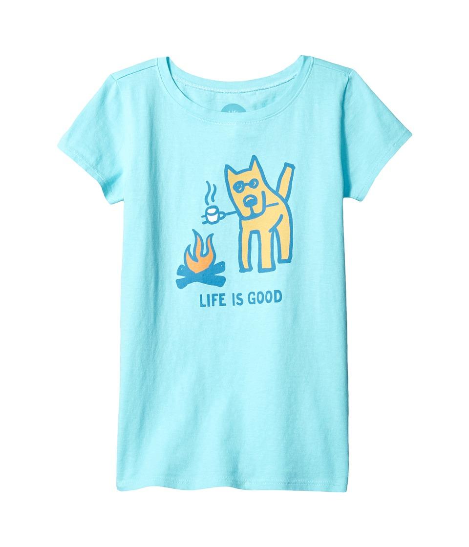 Life is Good Kids - Marshmallow Roast Tee (Little Kids/Big Kids) (Fresh Blue) Girl's T Shirt