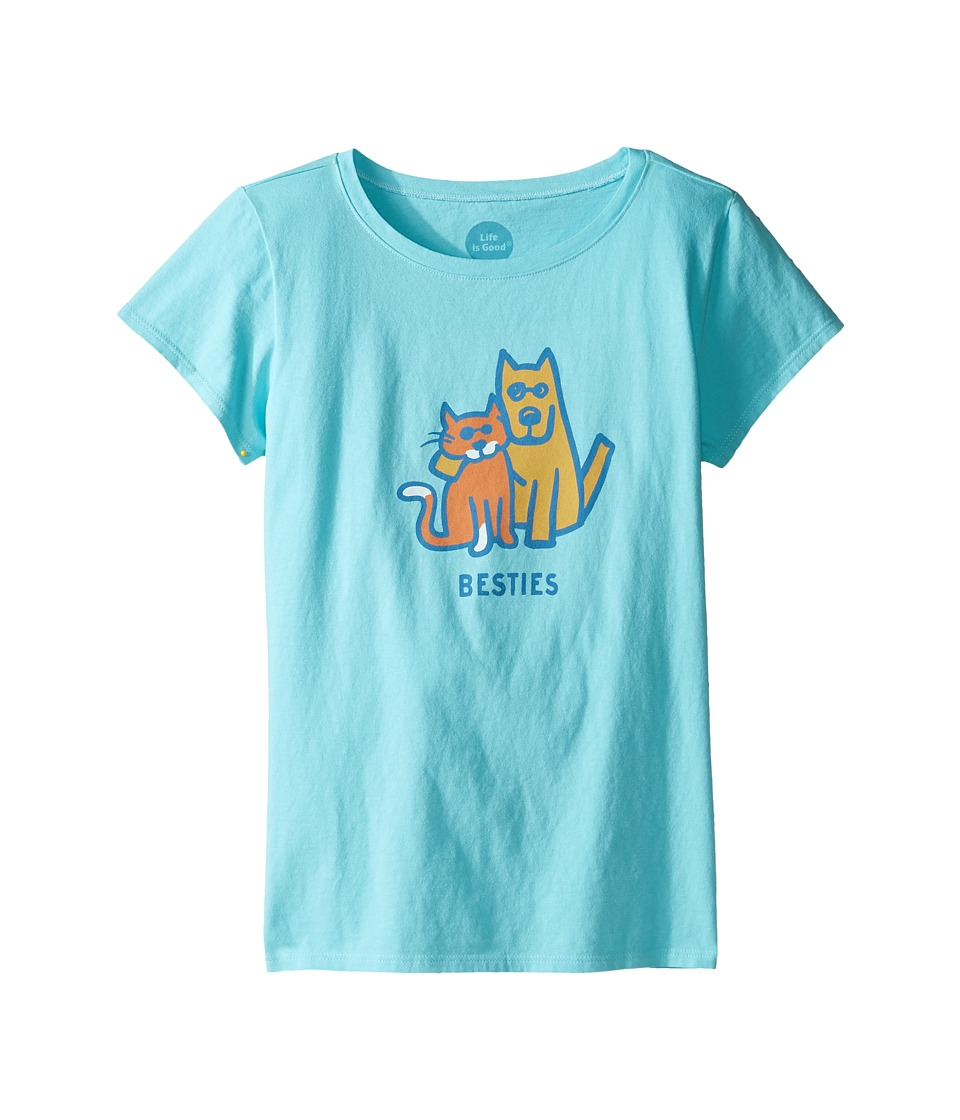 Life is Good Kids - Besties Tee (Little Kids/Big Kids) (Fresh Blue) Girl's T Shirt