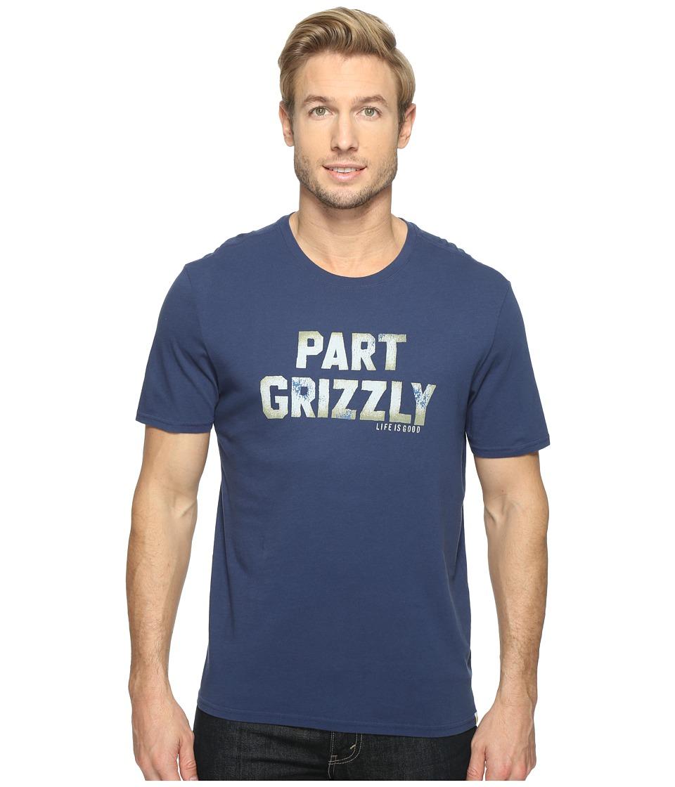 Life is Good - Part Grizzly Smooth Tee (Darkest Blue) Men's T Shirt