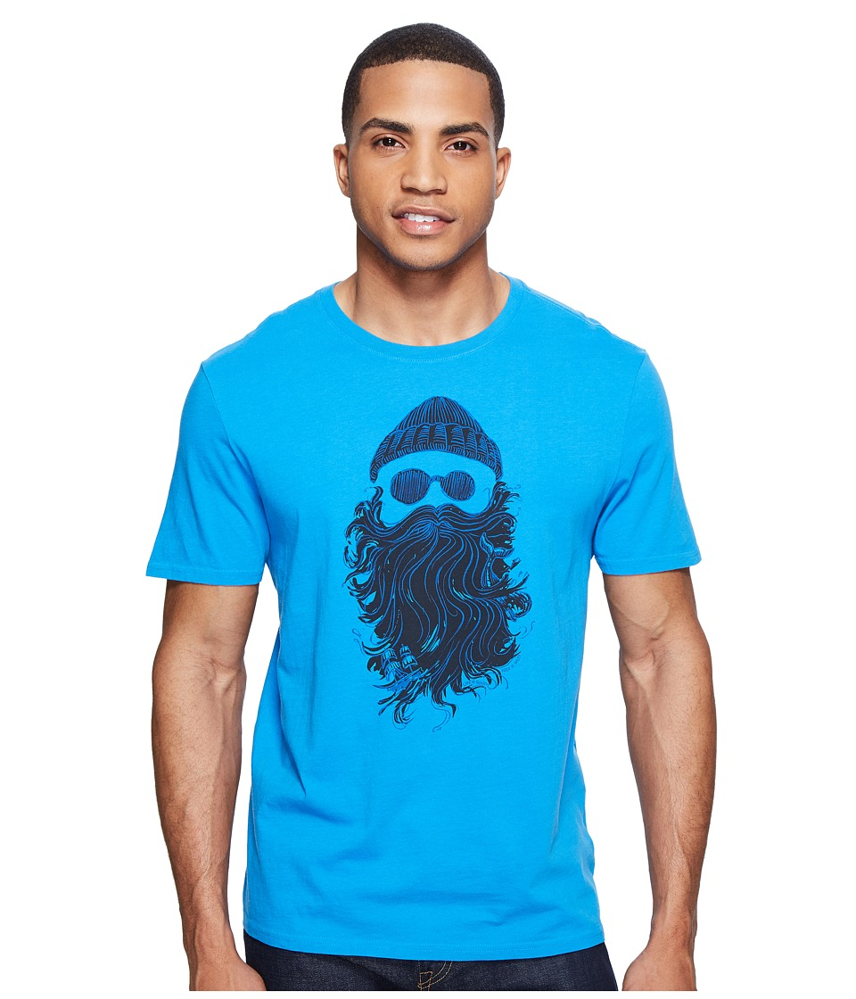 Life is Good - Salty Beard Smooth Tee (Marina Blue) Men's T Shirt