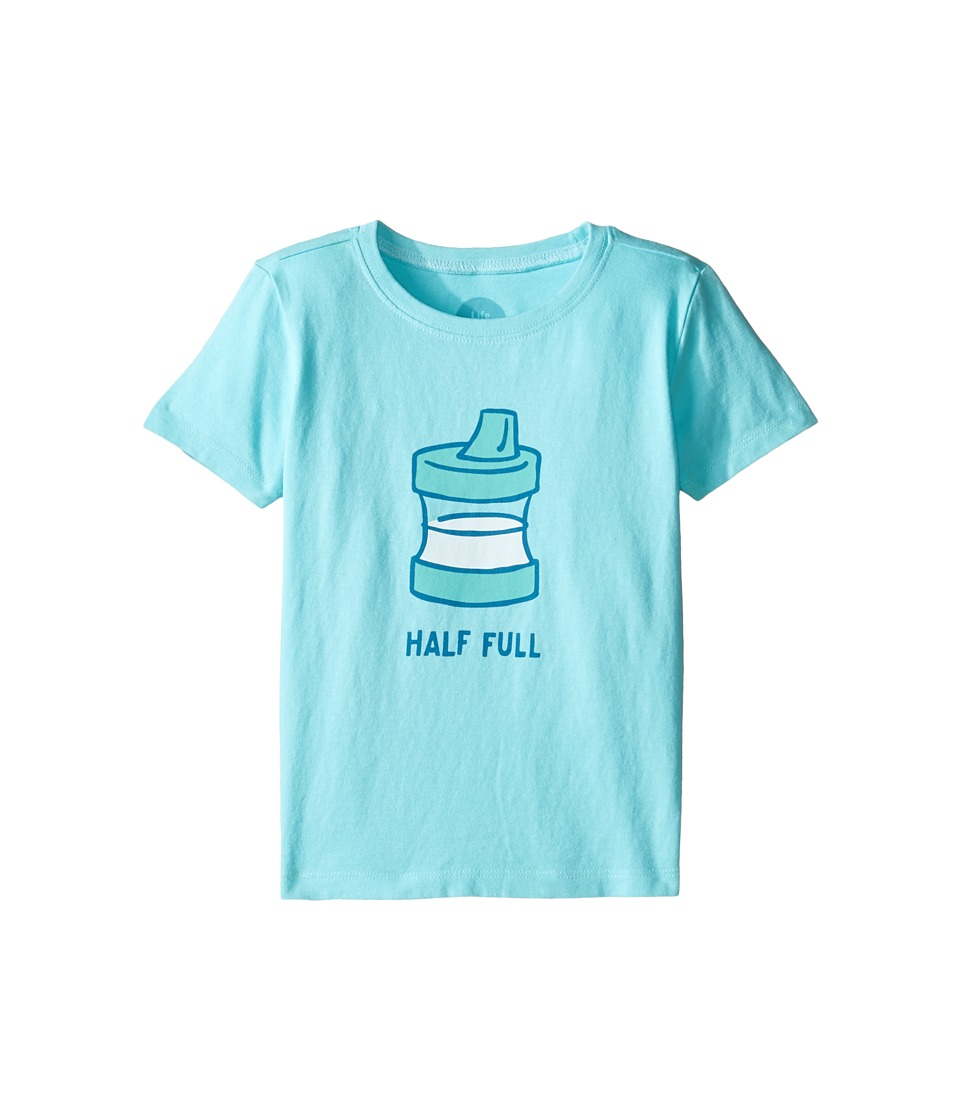 Life is Good Kids - Half Full Sippy Cup Tee (Toddler) (Fresh Blue) Girl's T Shirt