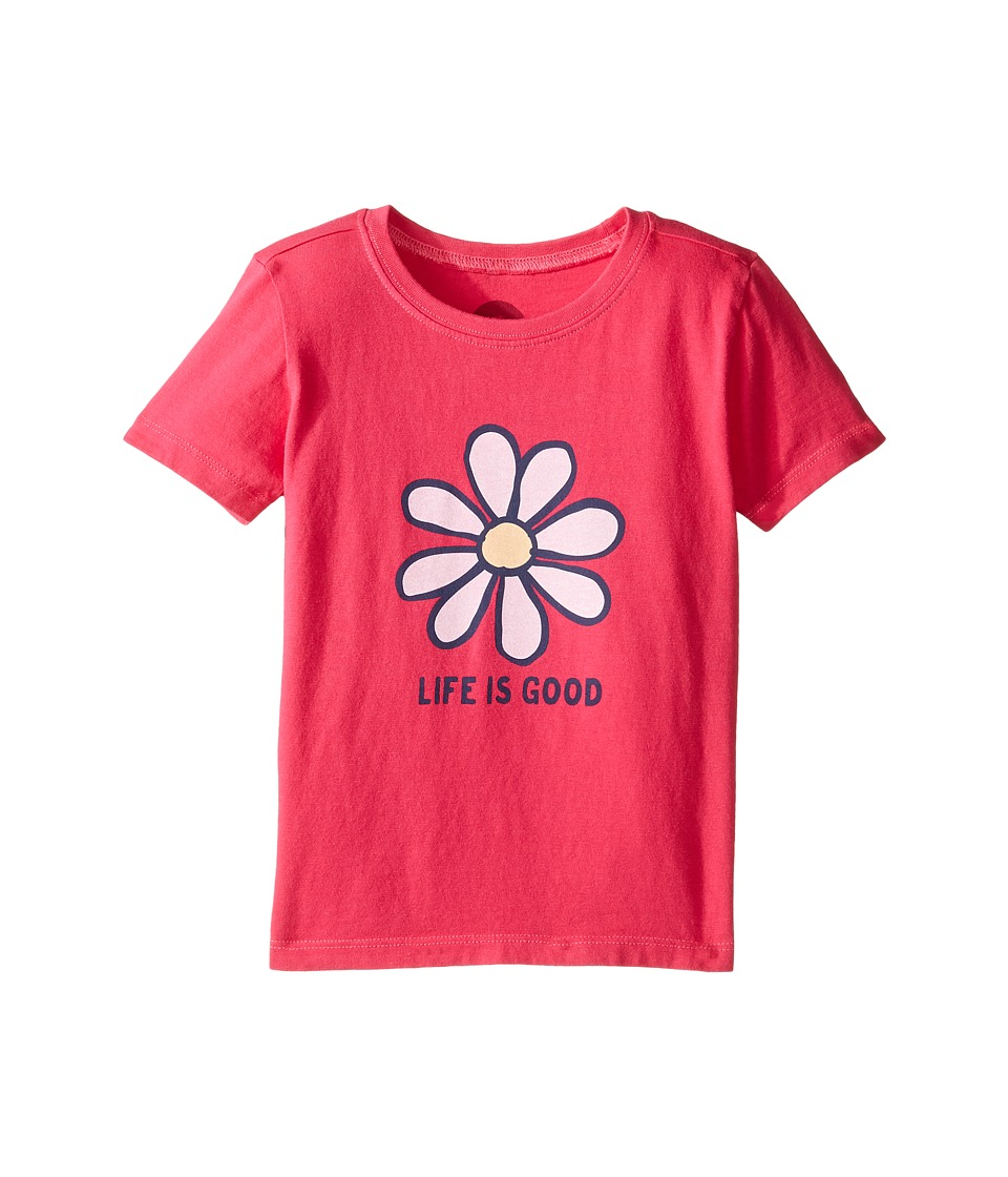 Life is Good Kids - Daisy Tee (Toddler) (Pop Pink) Girl's T Shirt