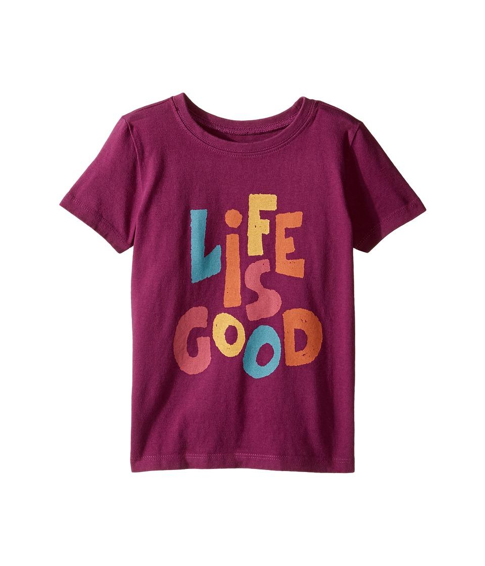 Life is Good Kids - Life is Good(r) Tee (Toddler) (Deep Plum) Girl's T Shirt
