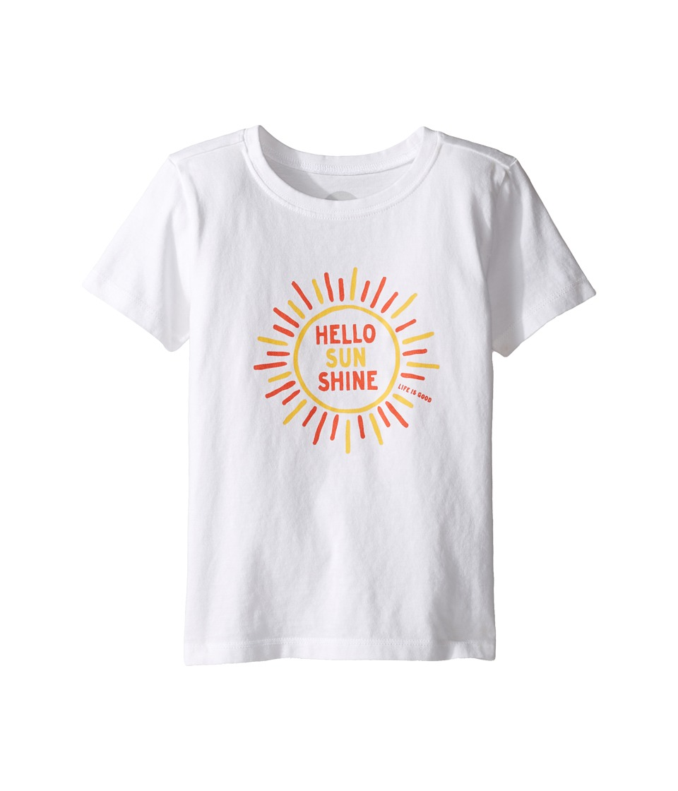Life is Good Kids - Hello Sunshine Tee (Toddler) (Cloud White) Girl's T Shirt