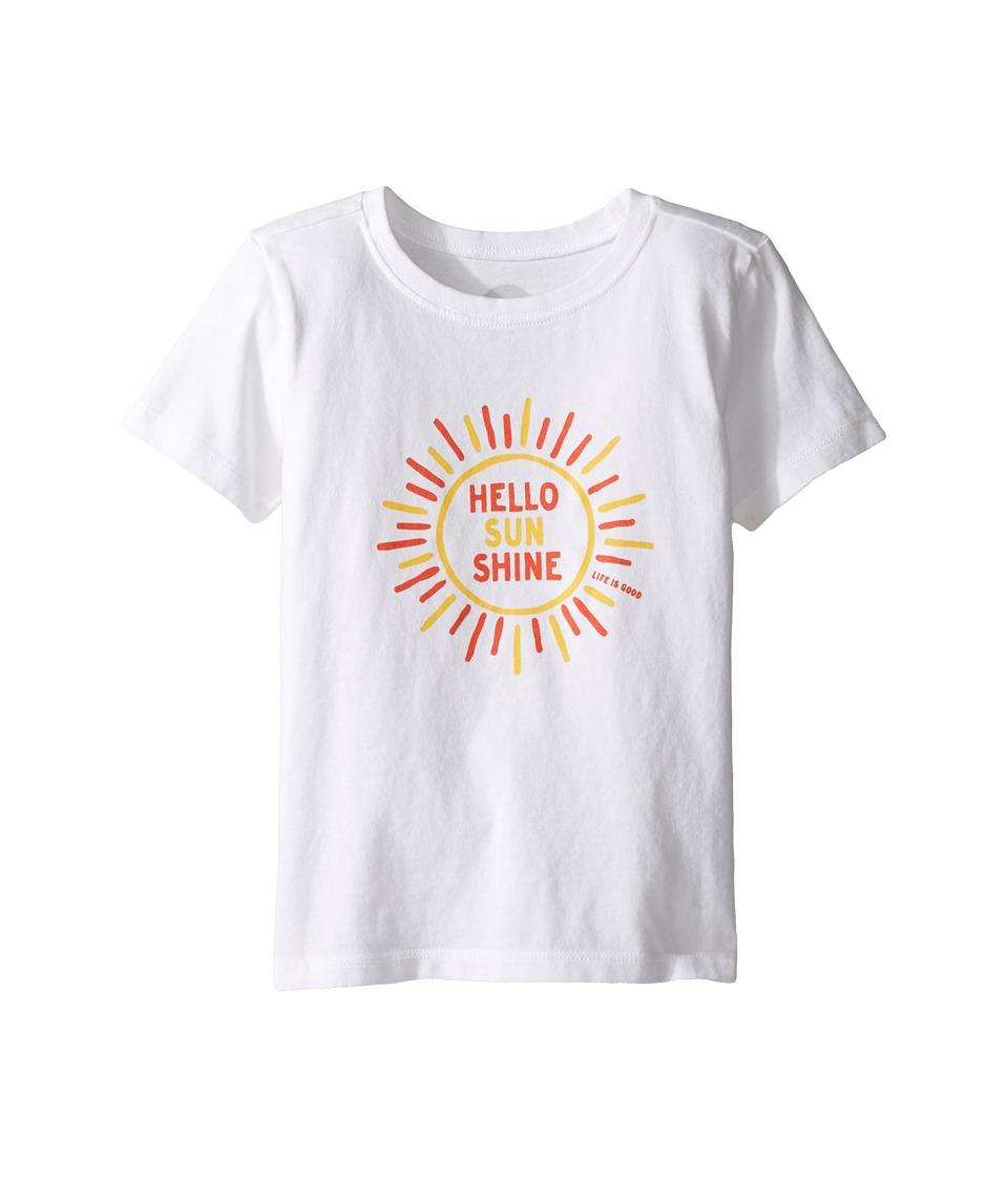 Life is Good Kids - Hello Sunshine Tee (Toddler) (Cloud White) Girl's T Shirt