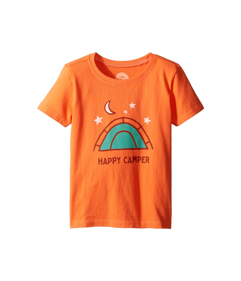 Life is Good Kids - Happy Camper Tee (Toddler) (Tropical Orange) Boy's T Shirt
