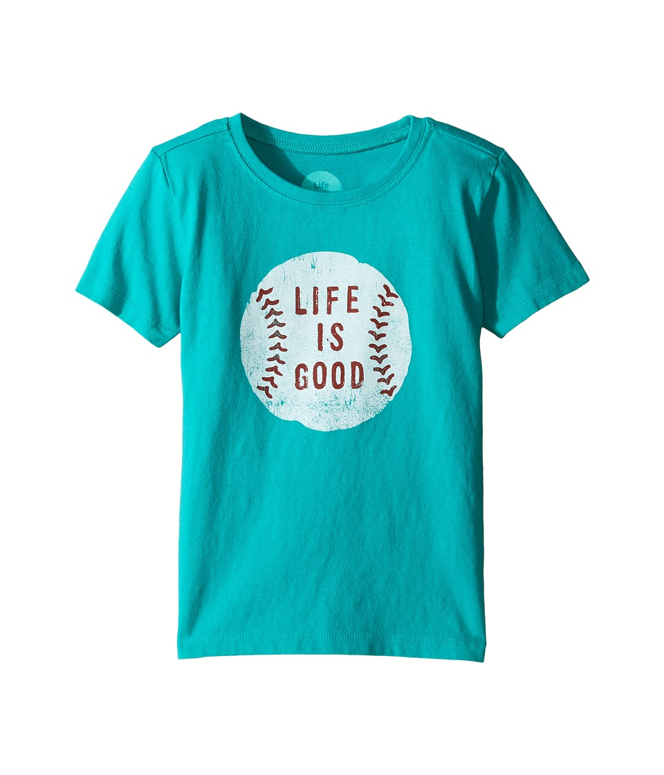 Life is Good Kids - Baseball Tee (Toddler) (Bright Teal) Boy's T Shirt