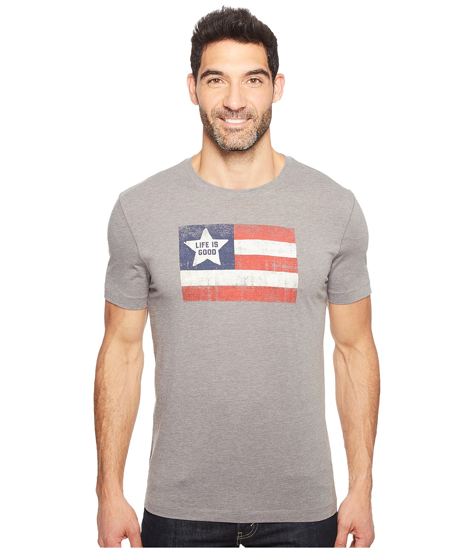 Life is Good - Flag Cool Tee (Slate Gray) Men's T Shirt