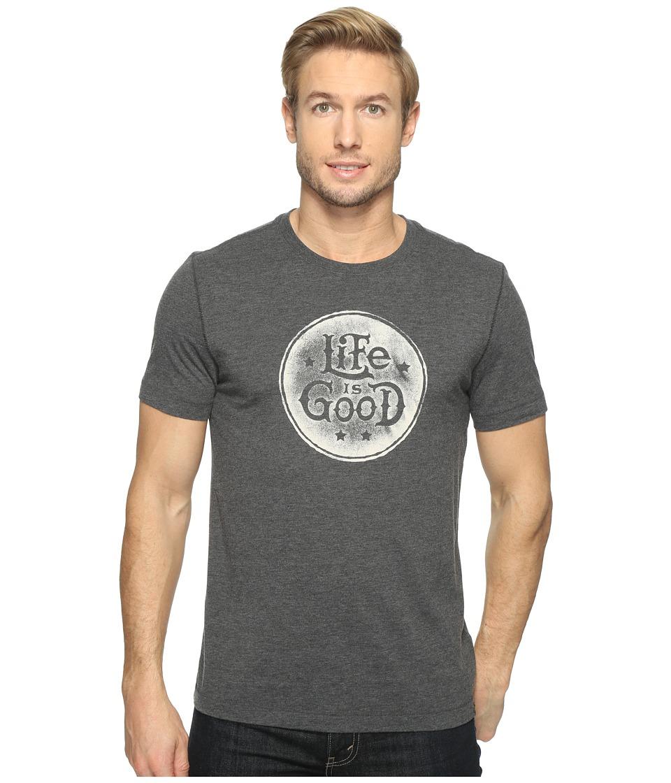 Life is Good - Life is Good(r) Cool Tee (Night Black) Men's T Shirt