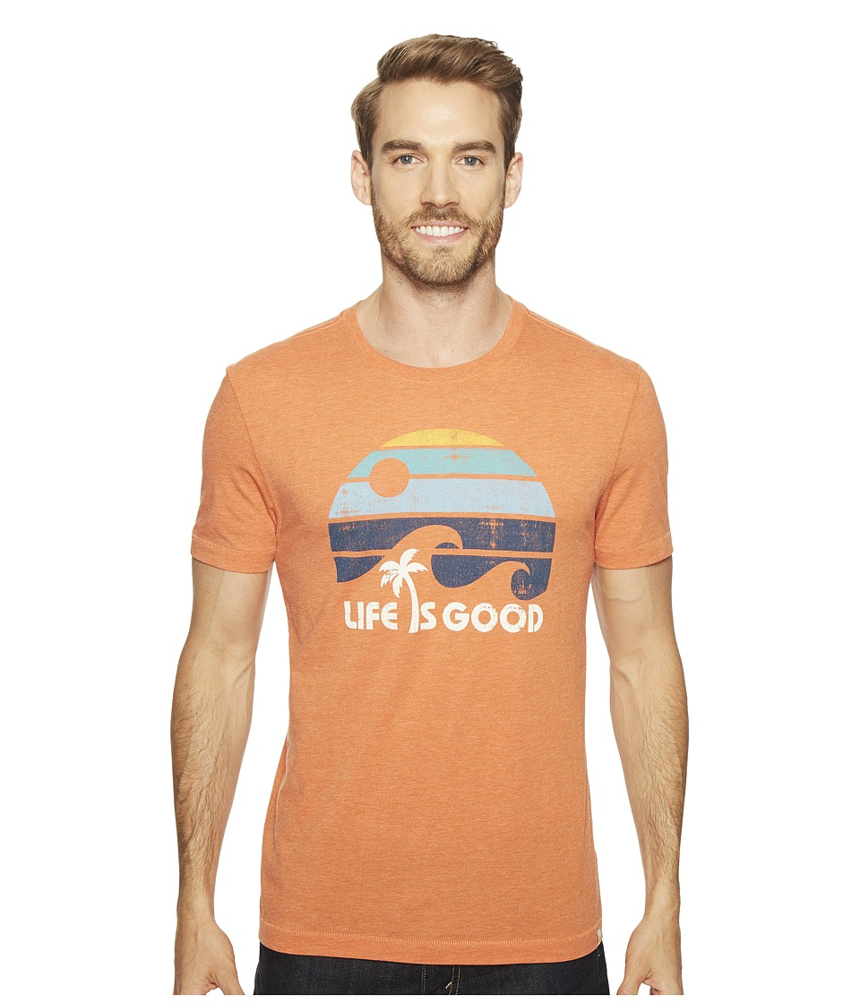 Life is Good - Wave Cool Tee (Deep Orange) Men's T Shirt
