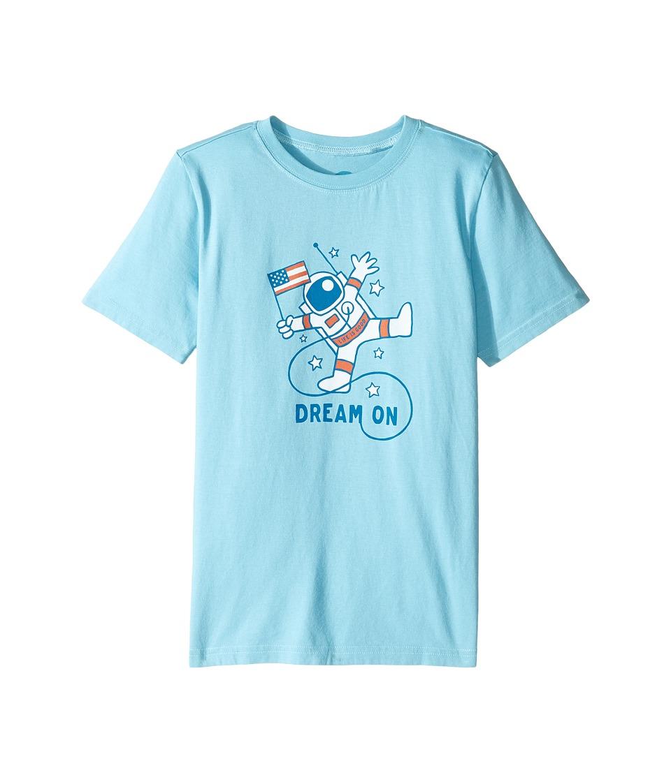 Life is Good Kids - Astronaut Crusher Tee (Little Kids/Big Kids) (Bleached Blue) Boy's T Shirt