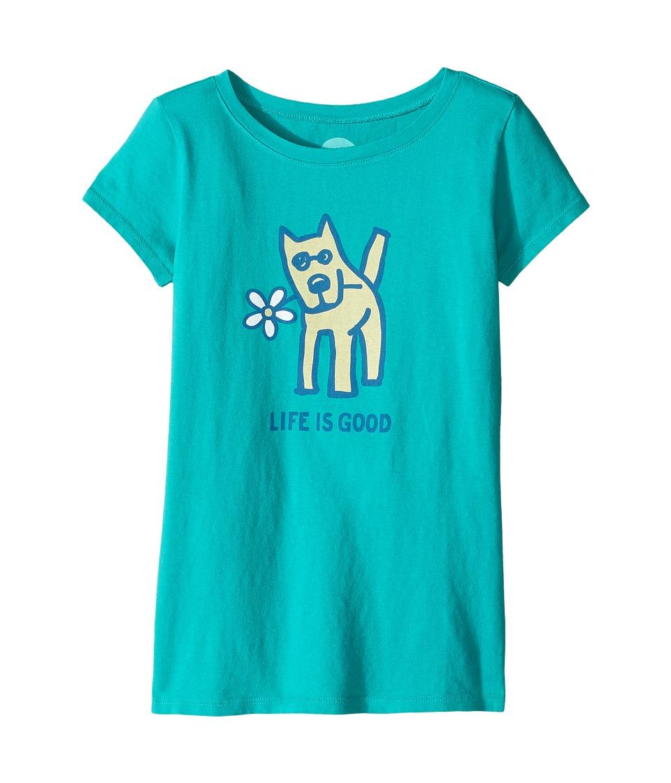 Life is Good Kids - Rocket Daisy Crusher Tee (Little Kids/Big Kids) (Bright Teal) Girl's T Shirt