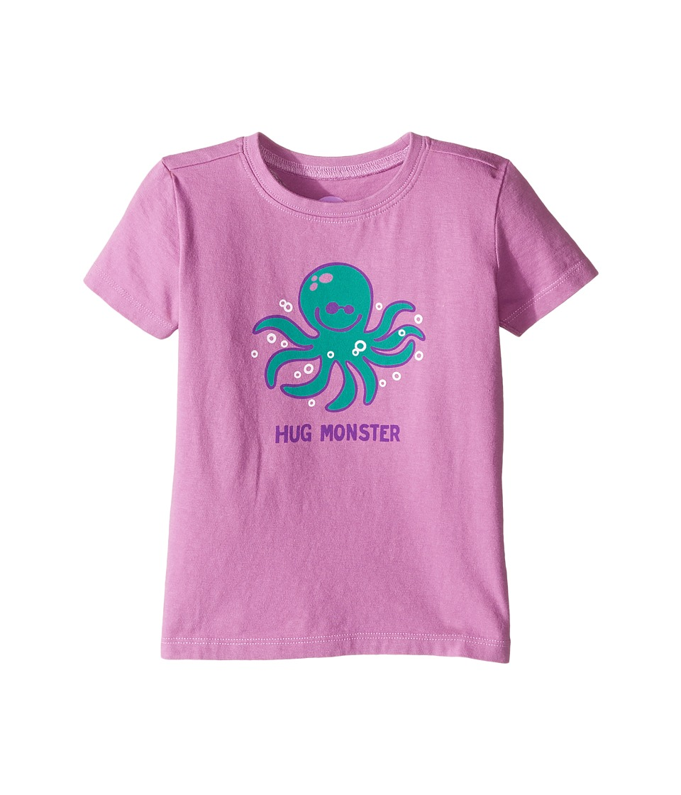 Life is Good Kids - Hug Monster Crusher Tee (Toddler) (Dusty Orchid) Girl's T Shirt