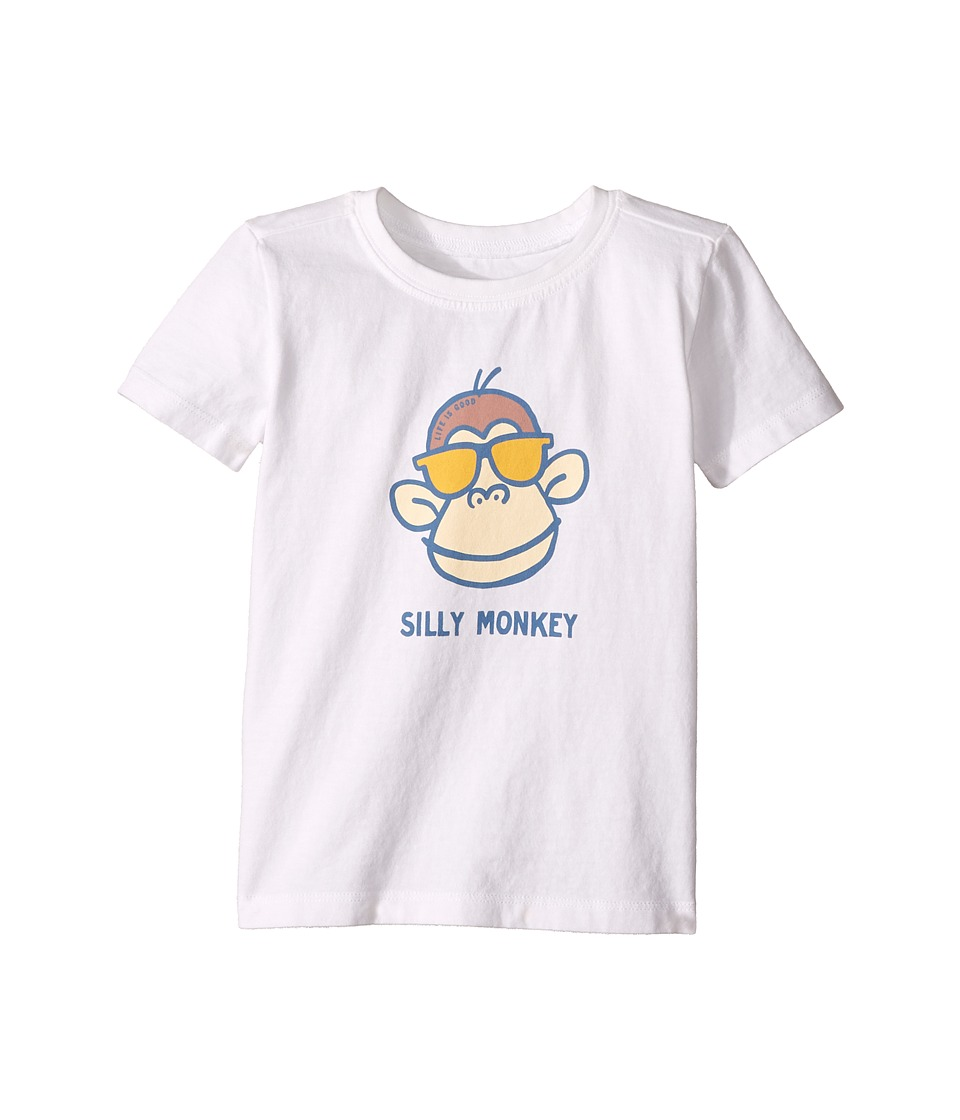 Life is Good Kids - Silly Monkey Crusher Tee (Toddler) (Cloud White) Boy's T Shirt
