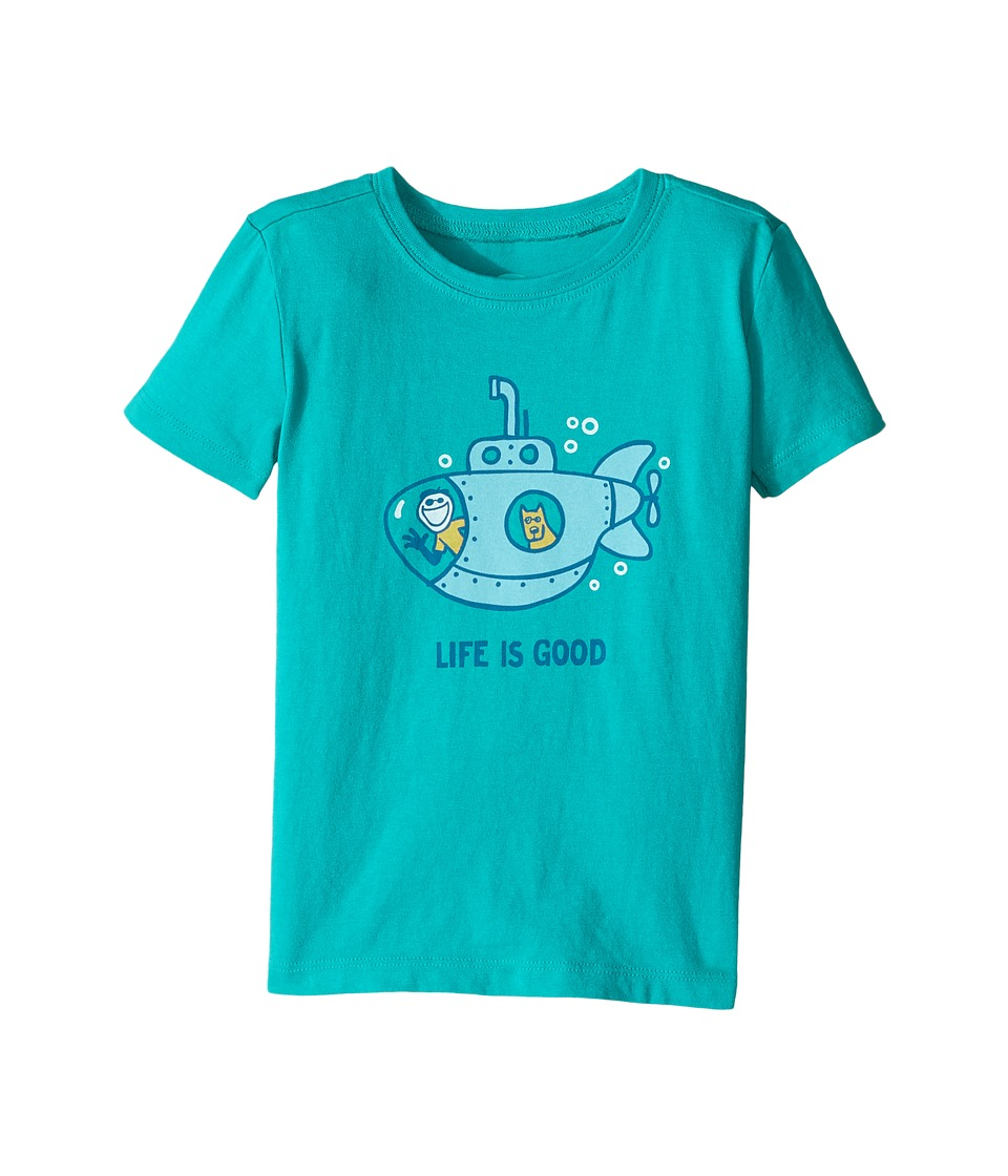 Life is Good Kids - Submarine Crusher Tee (Toddler) (Bright Teal) Boy's T Shirt