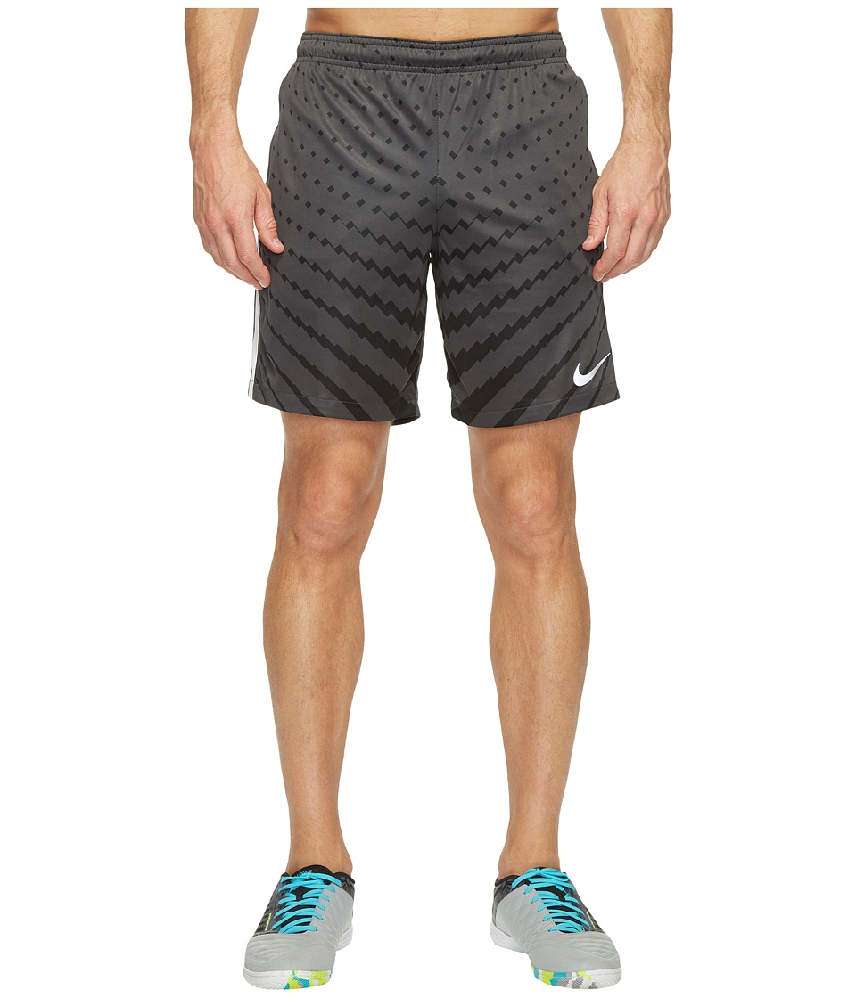Nike Dry Squad Soccer Short (Anthracite/Black/White/Metallic Silver) Men