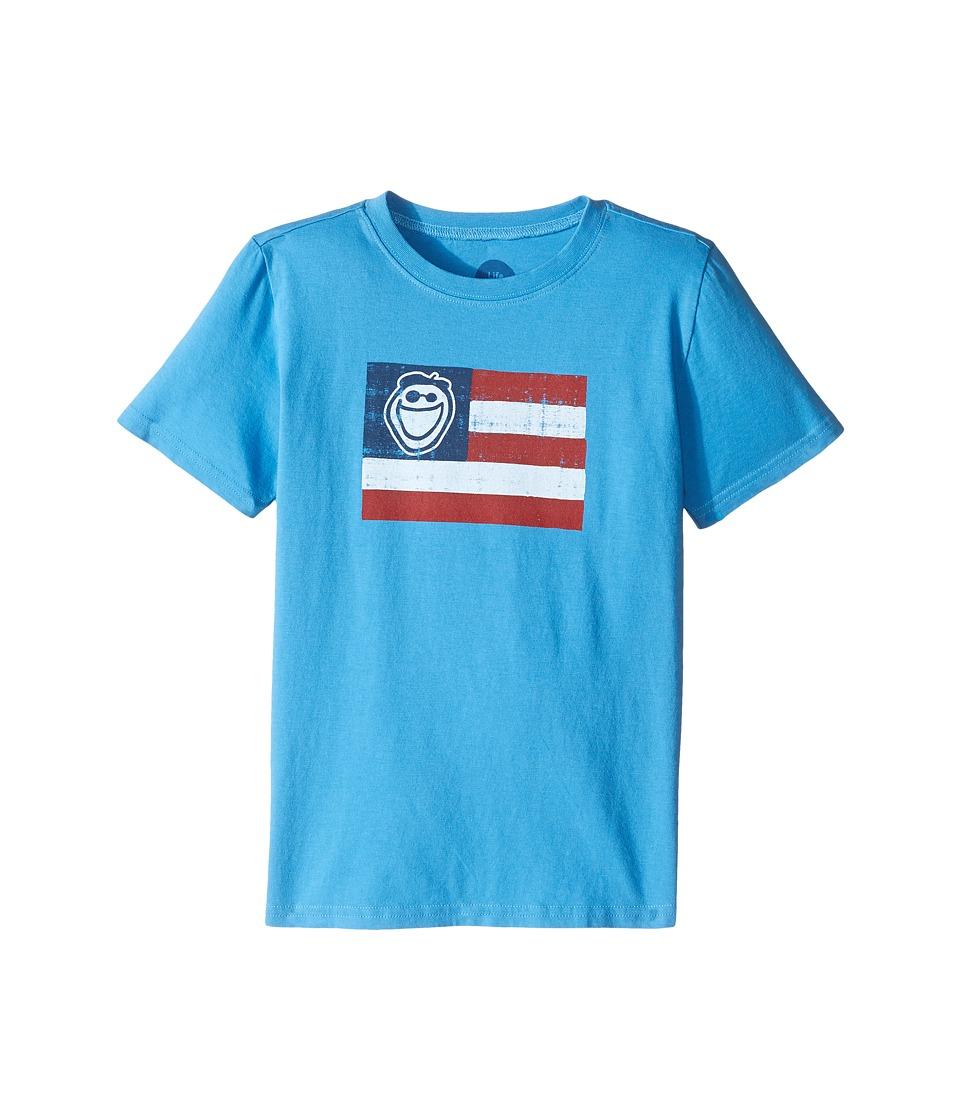 Life is Good Kids - Jake Crusher Tee (Little Kids/Big Kids) (Marina Blue) Boy's T Shirt