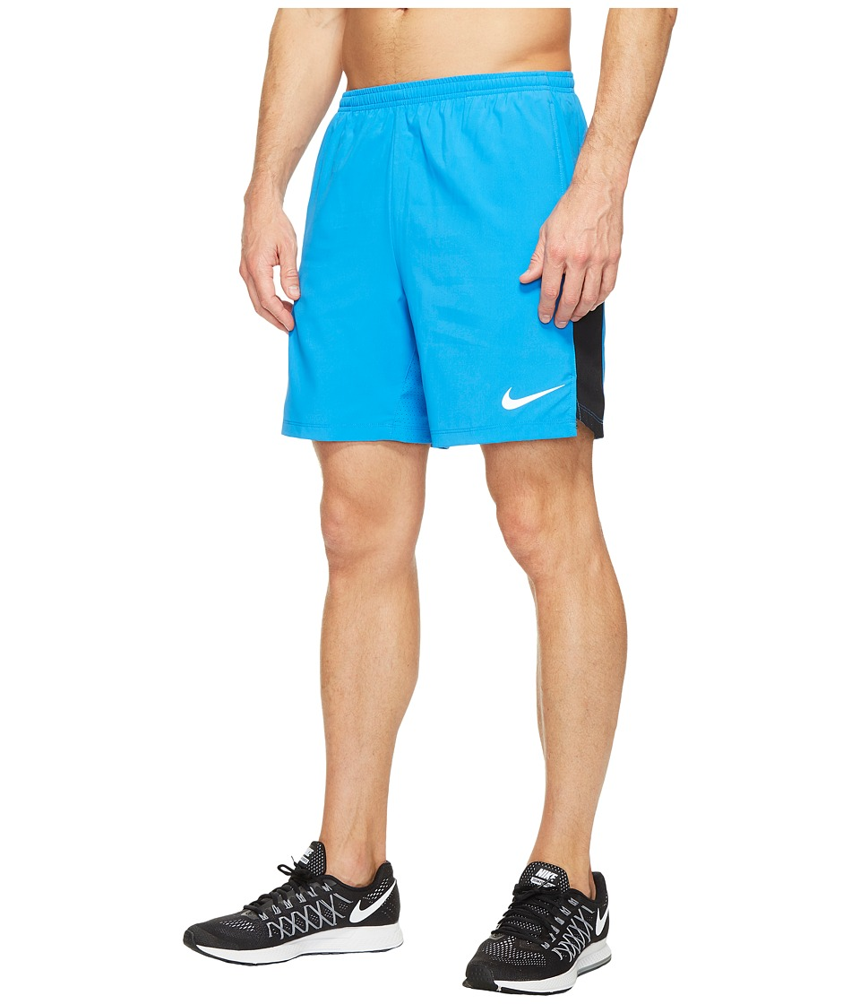 Nike - Flex 7'' Running Short (Light Photo Blue/Black) Men's Shorts