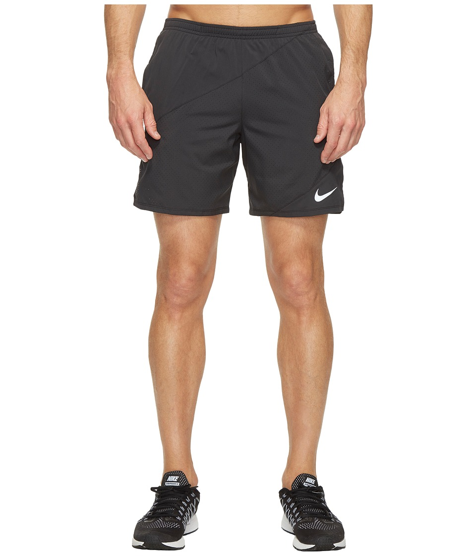 Nike Distance 7 Running Short (Black/Black) Men