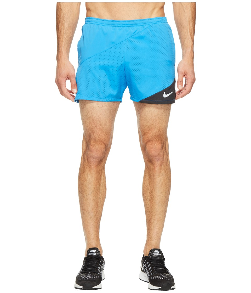 Nike Distance 5 Running Short (Light Photo Blue/Black) Men