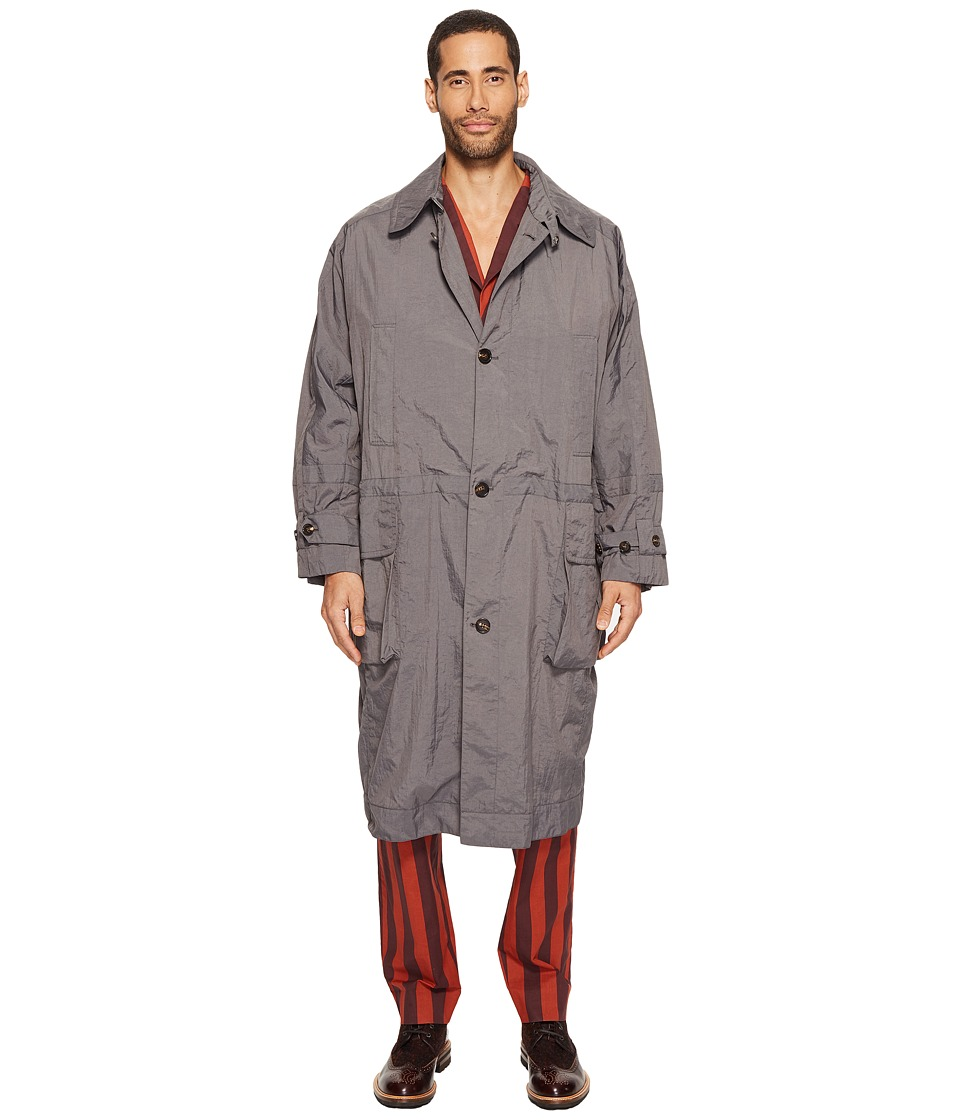 Vivienne Westwood - Gadget Lightweight Mac (Grey) Men's Coat