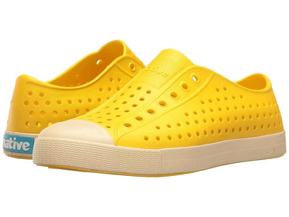 Native Kids Shoes - Jefferson (Little Kid/Big Kid) (Crayon Yellow/Bone White) Kid's Shoes