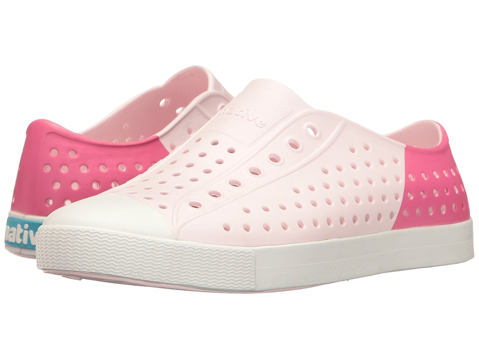 Native Kids Shoes - Jefferson Block (Little Kid/Big Kid) (Milk Pink/Shell White/Hollywood Block) Girl's Shoes