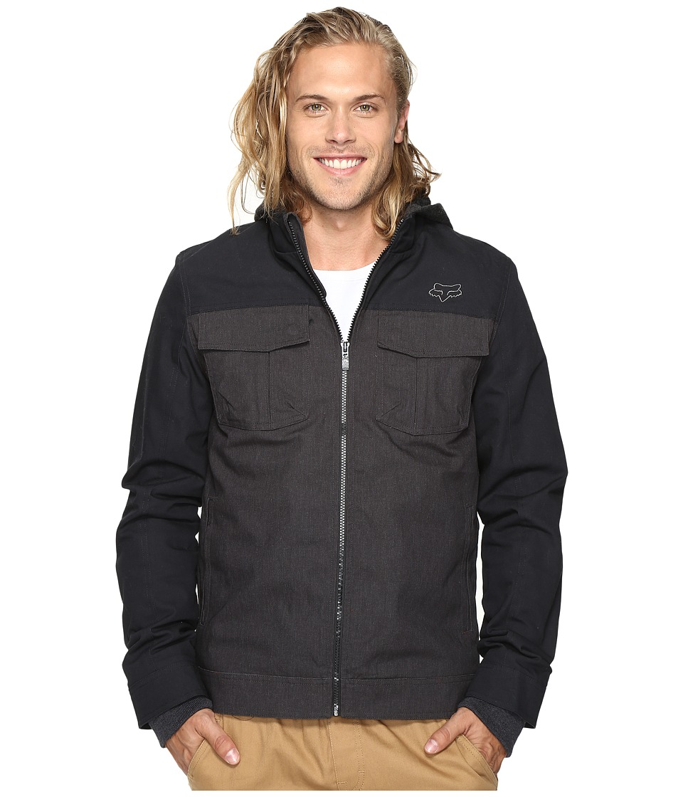 Fox - Straightaway Jacket (Heather Black) Men's Coat