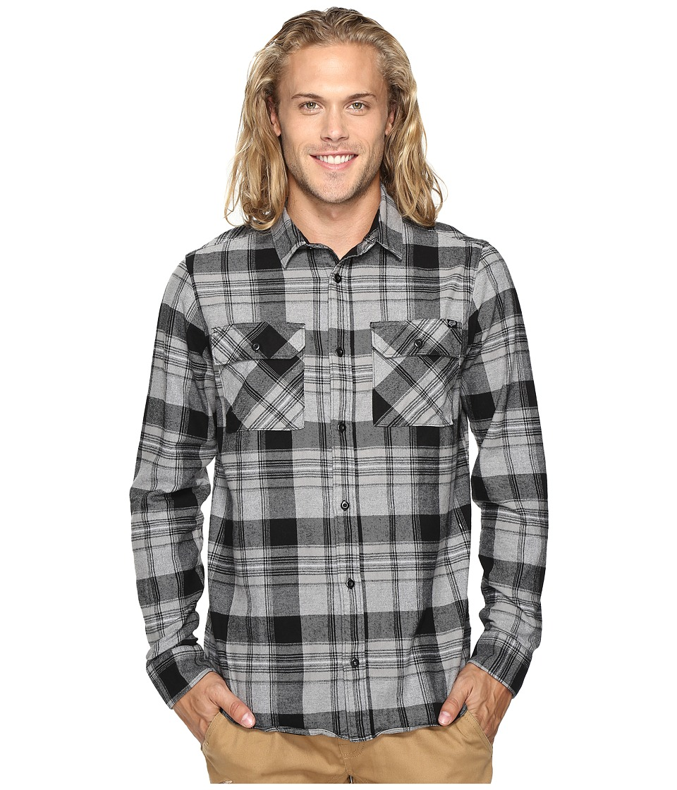 Fox - Glamper Long Sleeve Flannel (Black) Men's Clothing