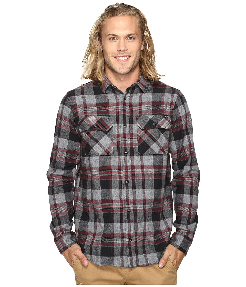 Fox - Glamper Long Sleeve Flannel (Graphite) Men's Clothing