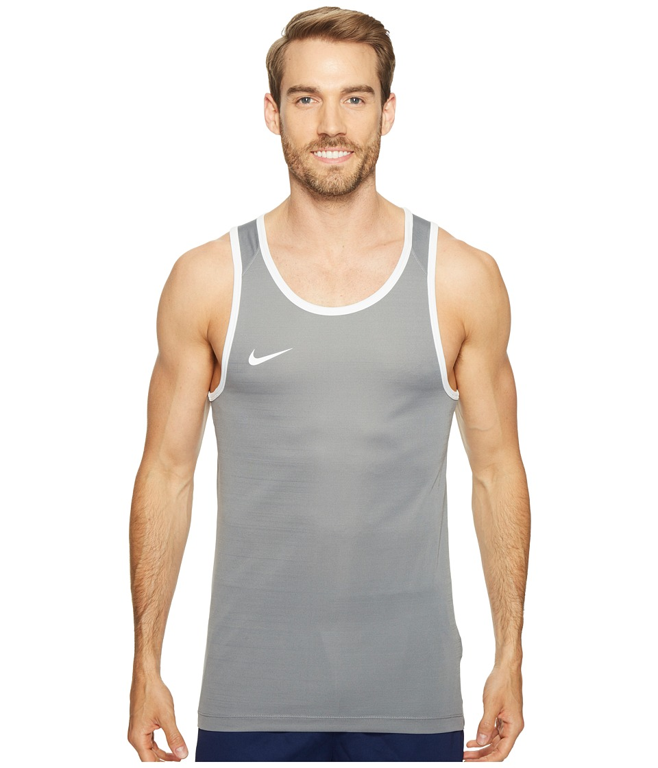 Nike - Dry Basketball Tank (Cool Grey/Cool Grey/White/White) Men's Sleeveless