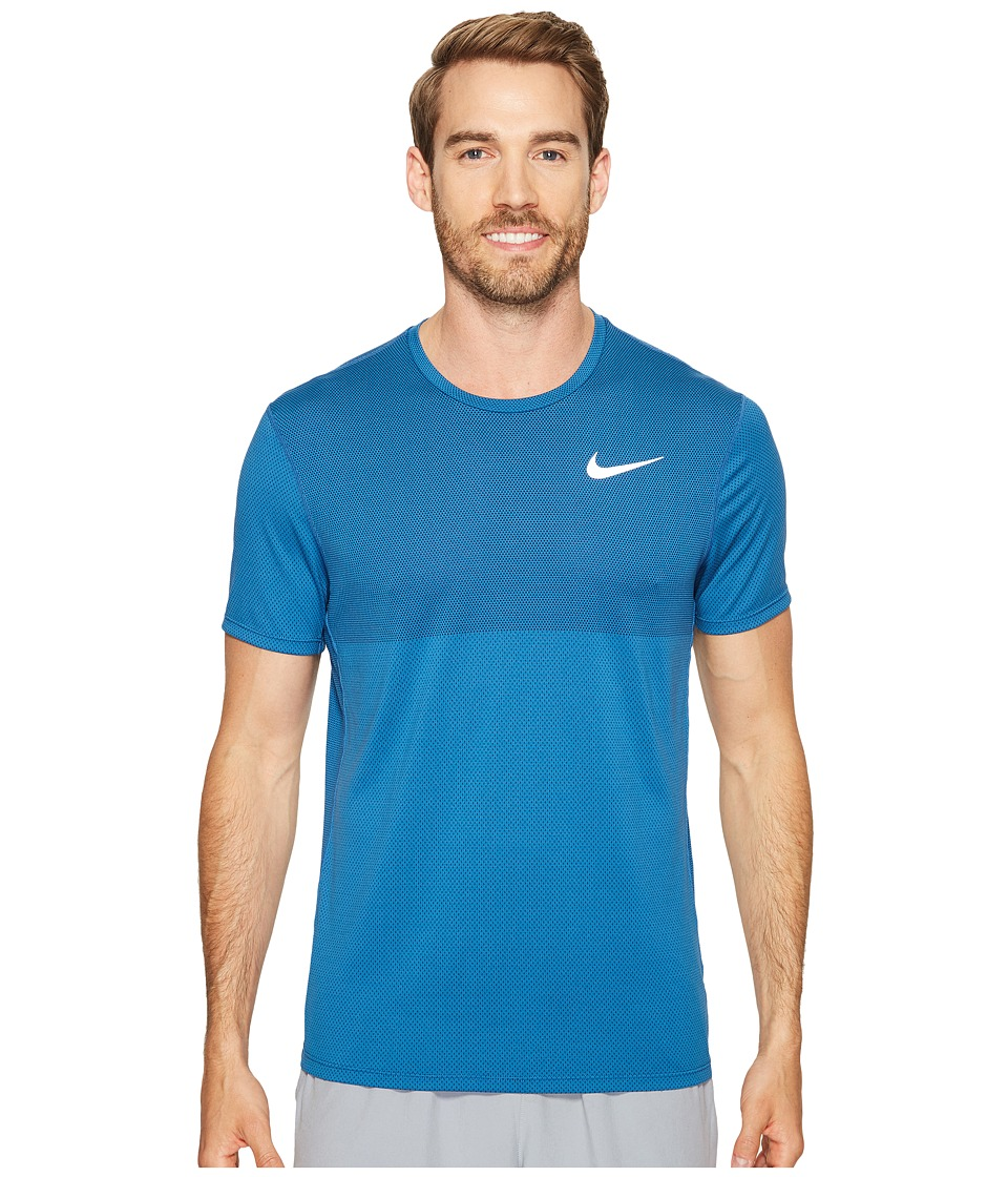 Nike - Zonal Cooling Relay Short Sleeve Running Top (Industrial Blue) Men's Clothing