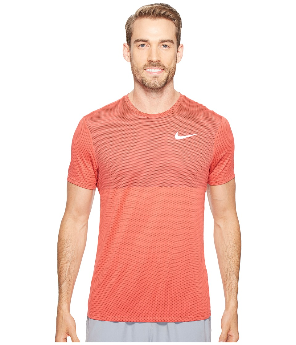 Nike - Zonal Cooling Relay Short Sleeve Running Top (Track Red) Men's Clothing