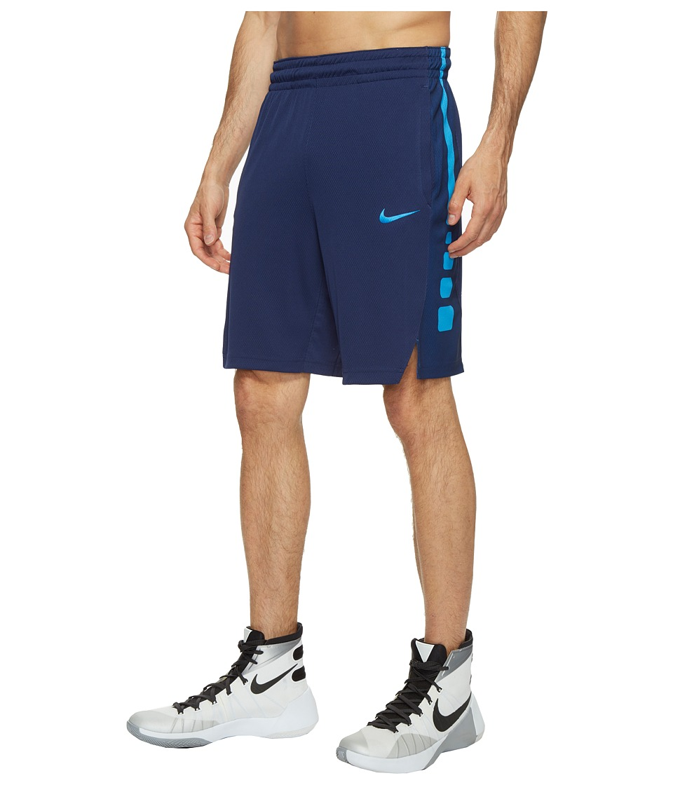 Nike - Elite Stripe Basketball Short (Binary Blue/Binary Blue/Light Photo Blue) Men's Shorts