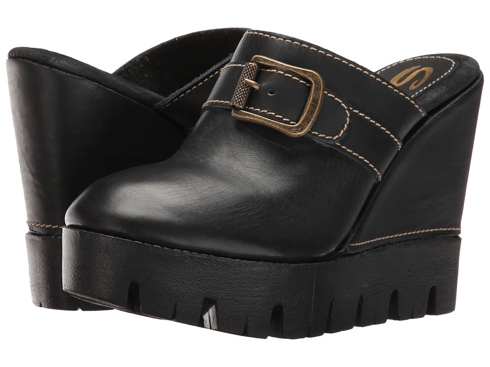 Sbicca - Marlon (Black) Women's Wedge Shoes