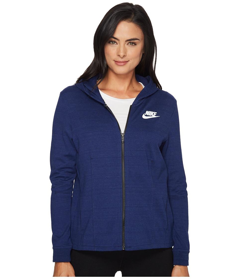 Nike - Sportswear Advance 15 Knit Jacket (Binary Blue/White) Women's Coat