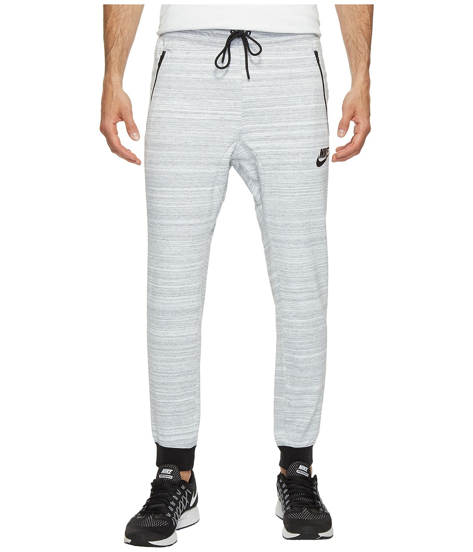 Nike - Sportswear Advance 15 Knit Jogger (White/Heather/Black) Men's Clothing