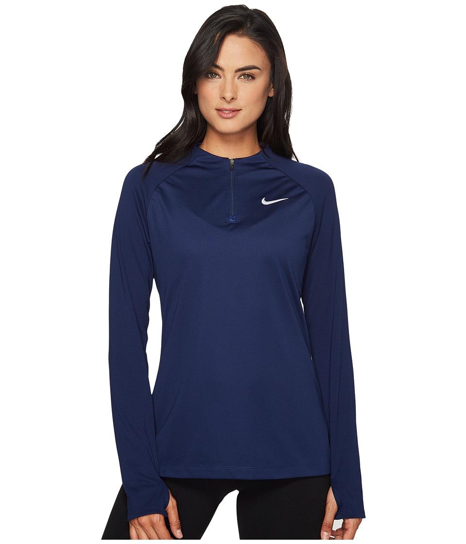 Nike - 1/4 Zip Soccer Drill Top (Binary Blue/White/White) Women's Clothing