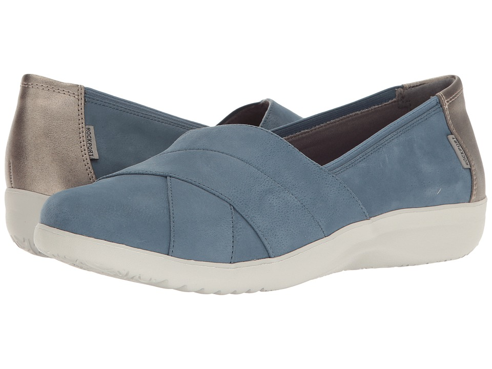 Rockport Emalyn Slip-On (Faded Denim) Women