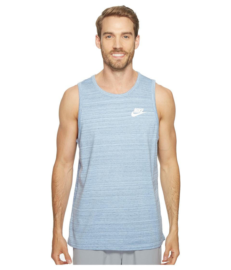 Nike - Sportswear Advance 15 Tank (Aluminum/Heather/White) Men's Sleeveless