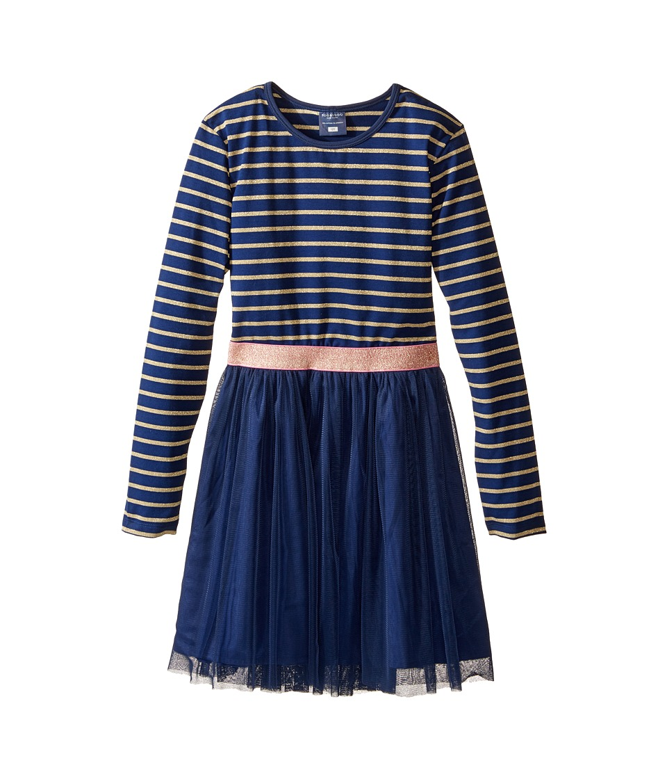 Toobydoo - Gold Twinkle Party Dress (Toddler/Little Kids/Big Kids) (Navy/Gold) Girl's Dress