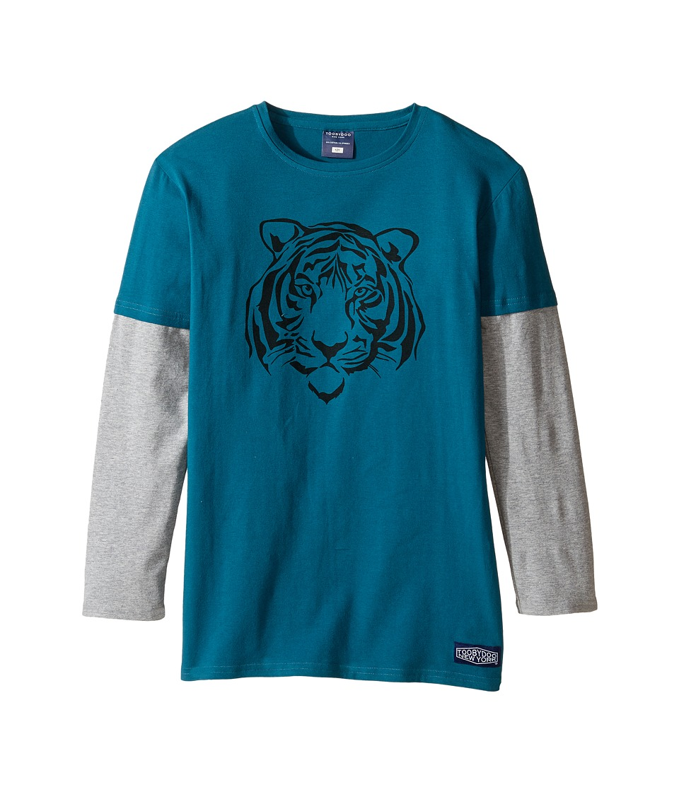 Toobydoo - Wild Bunch Tiger Tee (Infant/Toddler/Little Kids/Big Kids) (Blue/Gray/Navy) Boy's Clothing