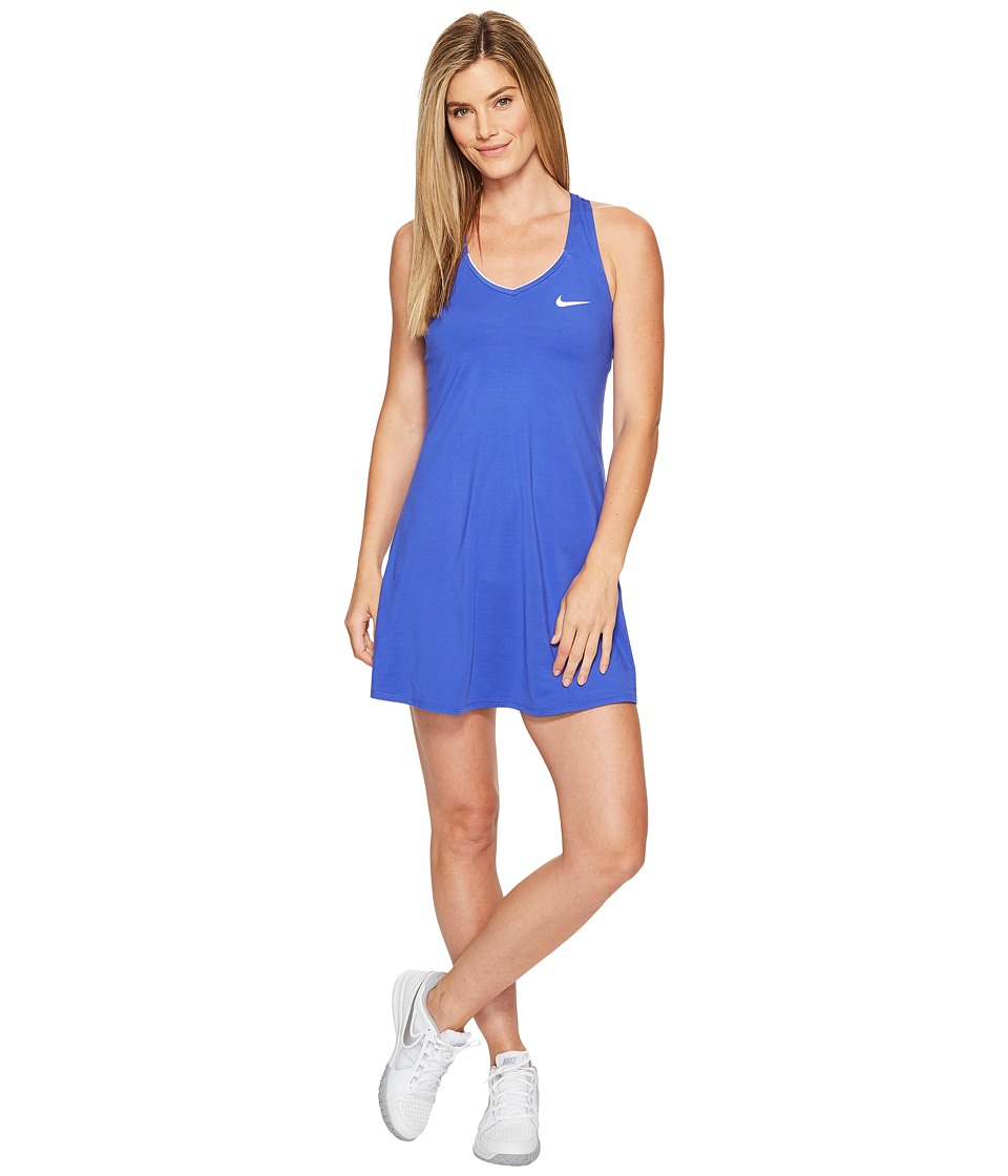 Nike Court Dry Tennis Dress (Paramount Blue/Paramount Blue/White) Women